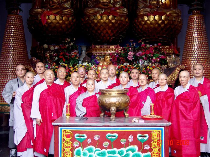 韩国僧侣在九华山