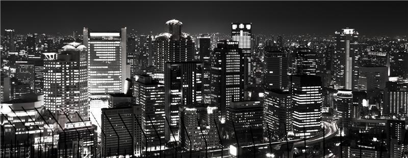 Osaka in B/W