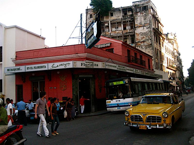 The Floridita, one of Hemmingway's favorite for daiquiris.