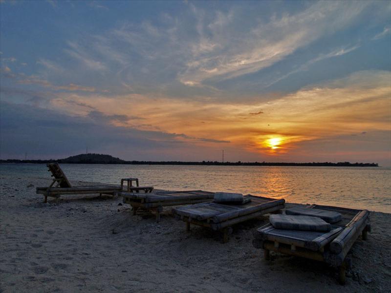 Sunset on Gili Meno