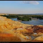 夕阳下的五彩滩,厄尔其斯河