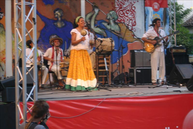 Latin musicians during Chefchaouen Intl. Music Festival 2008