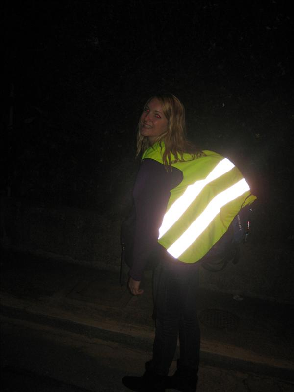 our great reflector vests to keep us safe while walking!