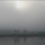 Morning fog at the Mekong