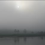 Morning fog at the Mekong