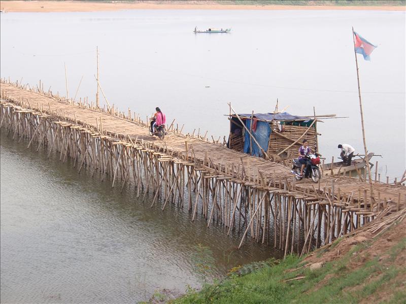 Bamboo bridge in Kompong Cham
