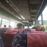 On the bus, going to Zagreb