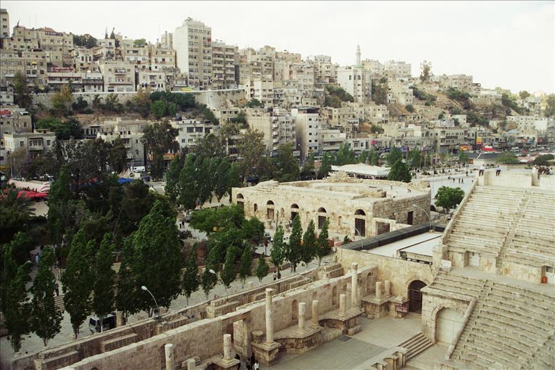 Roman Theatre Amman, Jordan The Roman Theatre was built during the reign of Marcus Aurelius (169-177 AD),