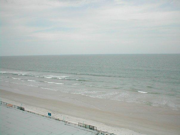 View of Daytona Beach from our hotel room.