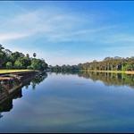 The lake outside Angkor Wat