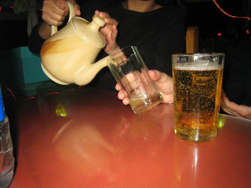 Beer in a teapot