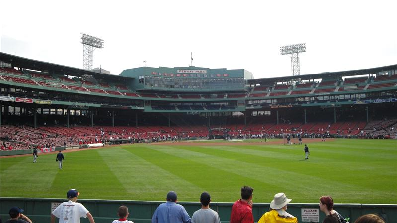 First view of Fenway...amazing ballpark