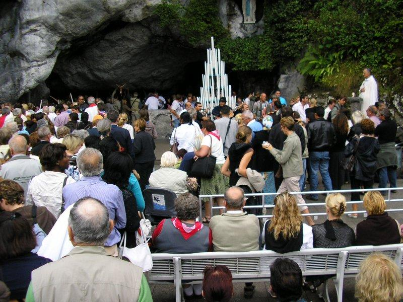 The grotto where the Virgin appeared to Sainte Bernadette.