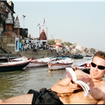 Boat trip on the Ganges, Varanasi  oct2000