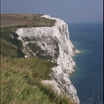 I took this picture of the White Cliffs of Dover standing right on the edge of the cliff.  It was pretty scary!