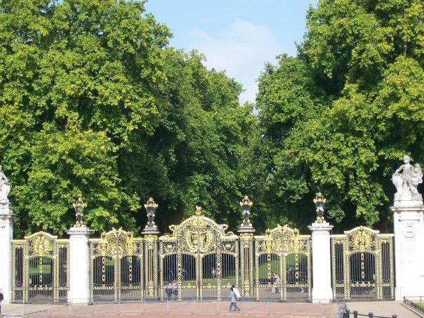 These gates were across from the palace and I'm not sure what was behind the gates.