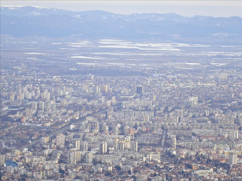 Sofia viewed from Vitosha