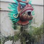 Dragon Head Fountain in temple
