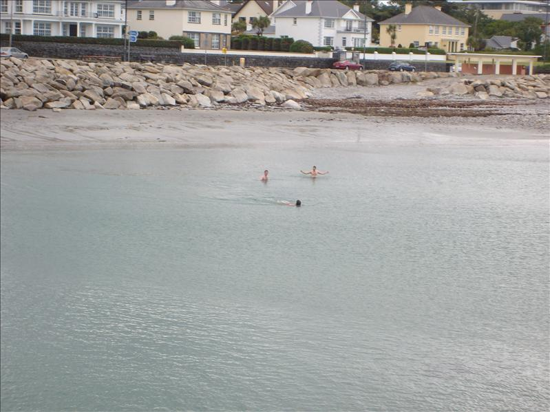 Galway bay...crazy people swimming in 50 degree water!!!