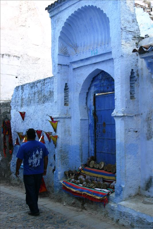 Blue Scalloped-Moorish-Arched Doorway