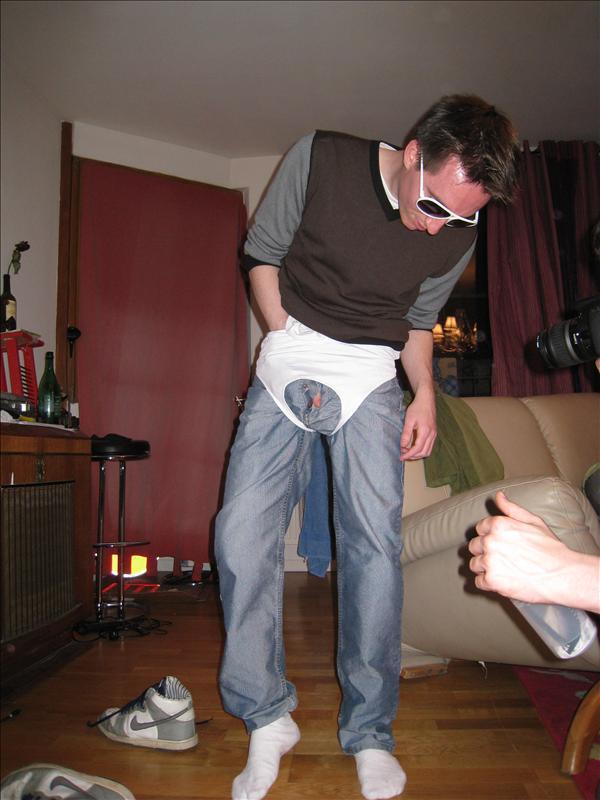 When boys think sports bras are underwear :)