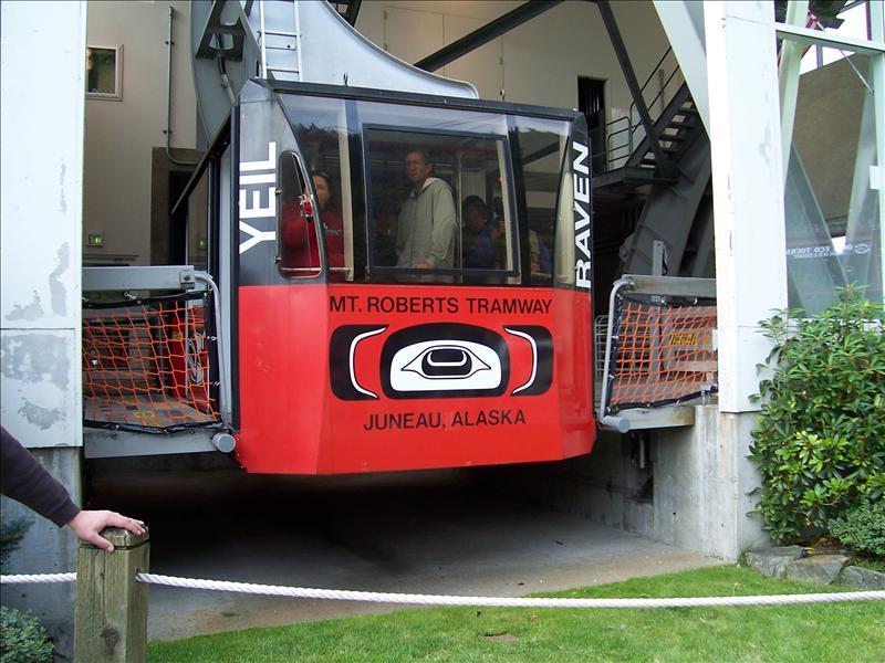 Tramway in Jeaneau, Alaska