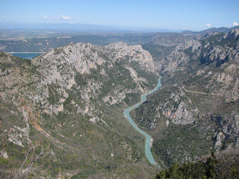.. the river Verdon flows into ...