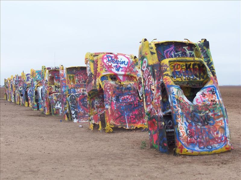 Cars at Cadillac Ranch in Amarillo