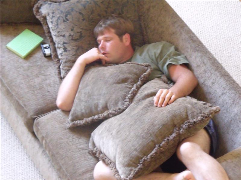 Michael taking a nap