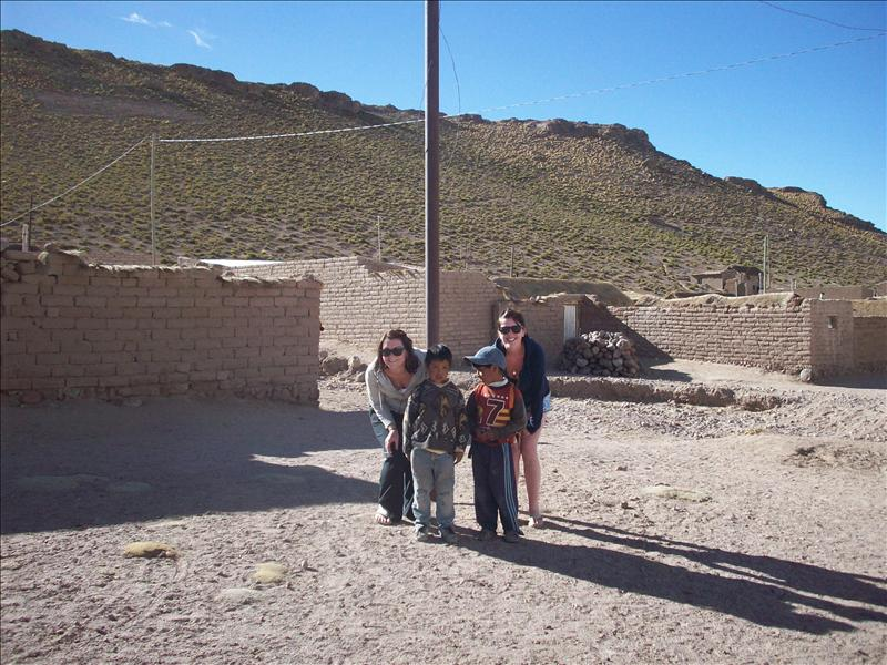 Beautiful Bolivian children in San Antonio De Lipez