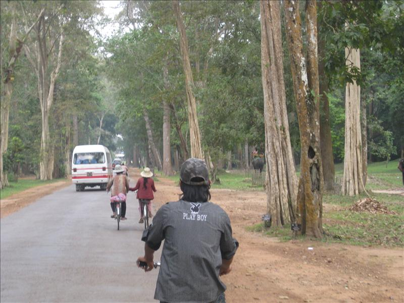 Bicyling in Cambodia