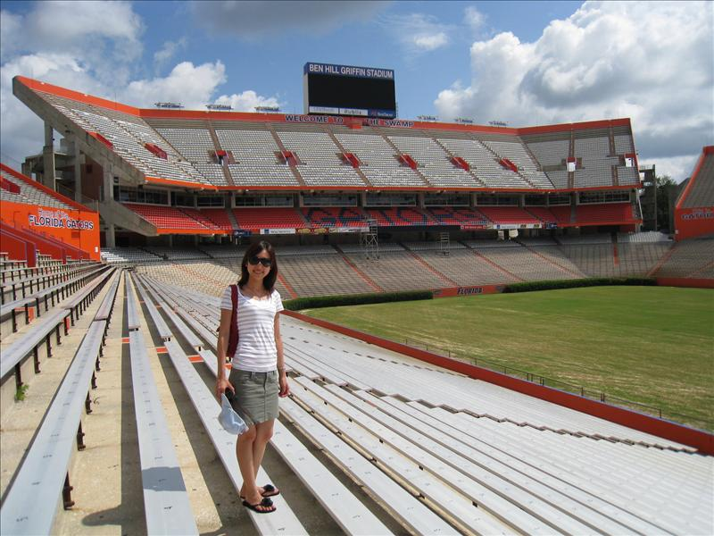 Football Stadium - University of Florida - Over 90000 Seats.....