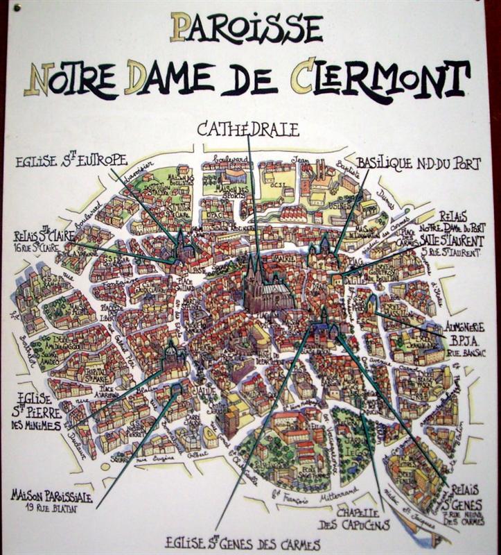 克萊蒙的教堂地圖