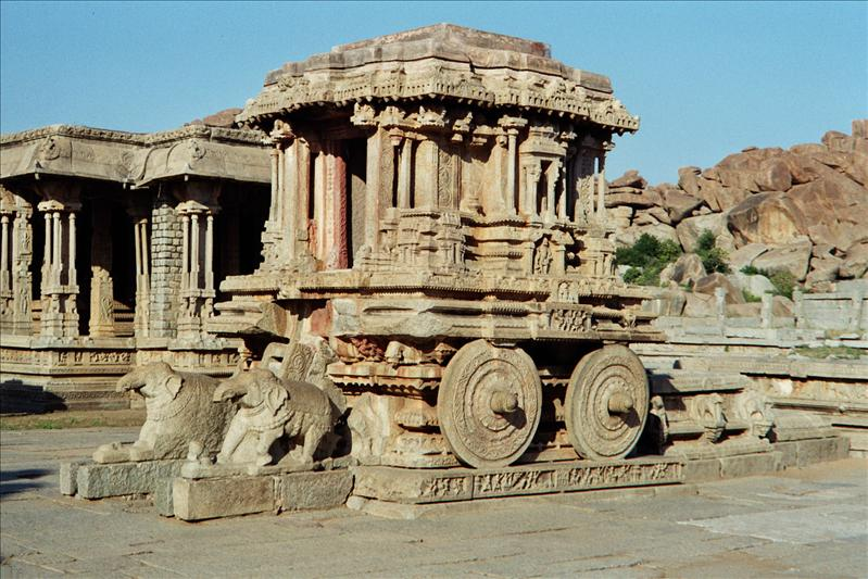 Stone Chariot inside Vittala Temple.