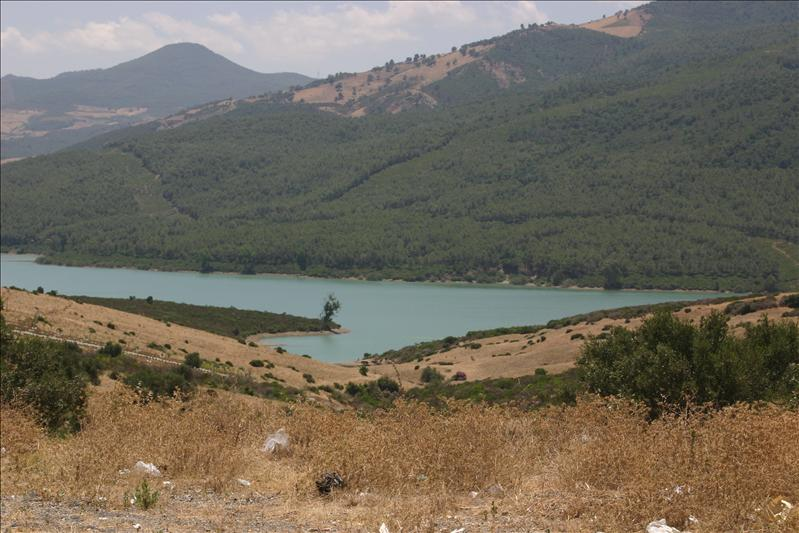 beautiful aquamarine lake