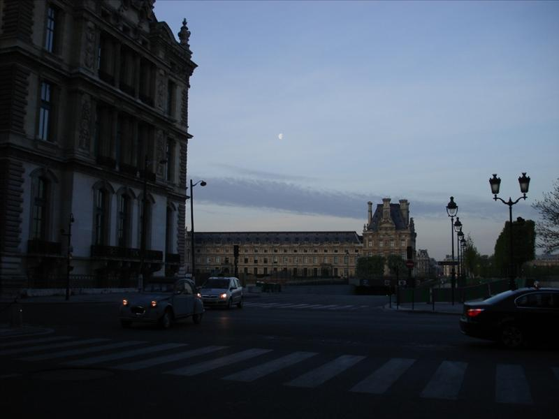 The first time we saw the moon in Paris