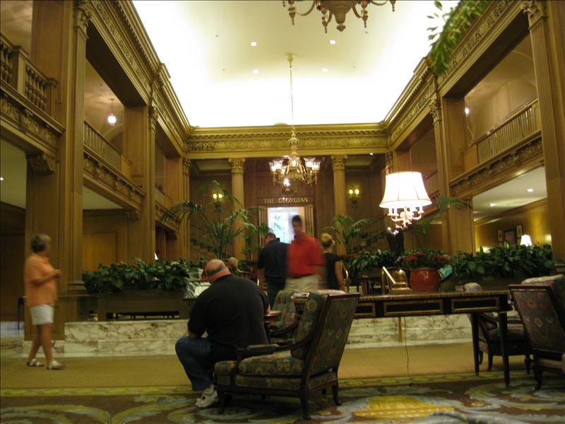 Lobby of the Fairmont Hotel