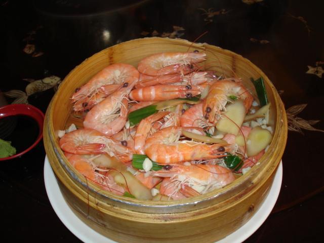 新鮮到不行的蝦子