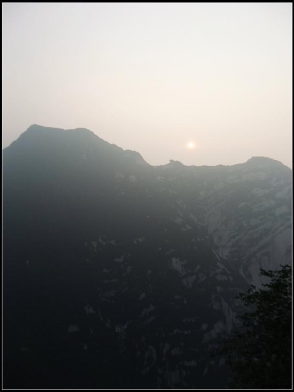 可能無法趕到西峰看日落了