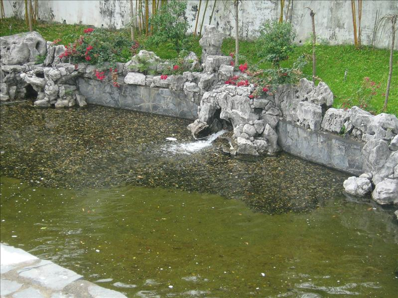 Pond in Kowloon Walled City Park
