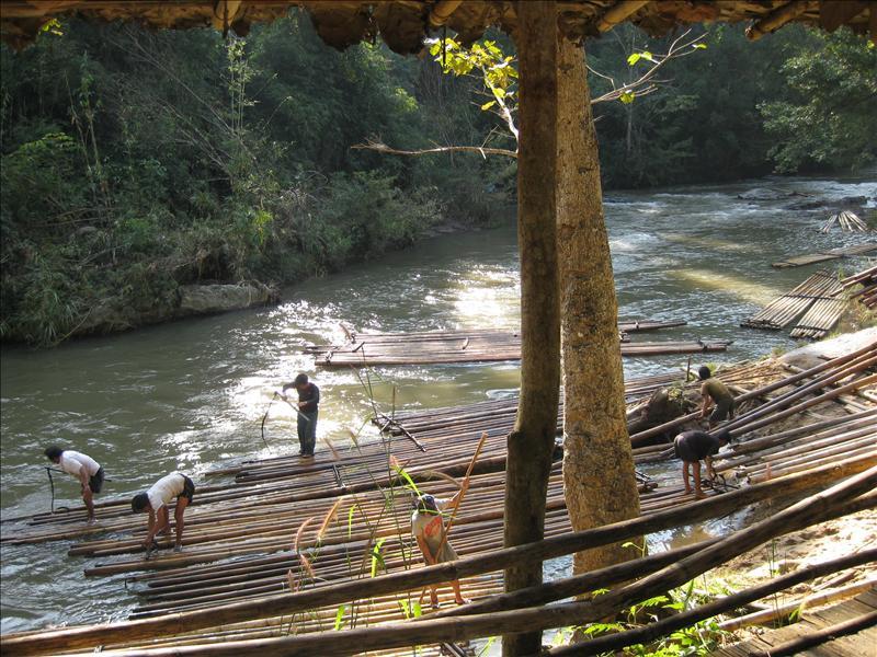 Bamboo river rafting trip
