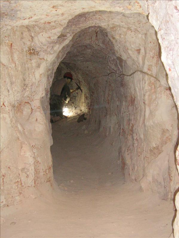 Down in the mine