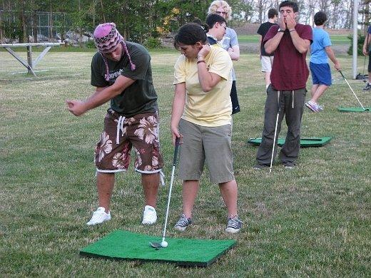 Me Trying To Teach Sammy Golf