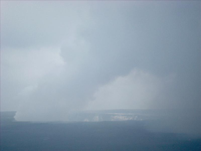 Kilauea - The smoking crater of the volcano