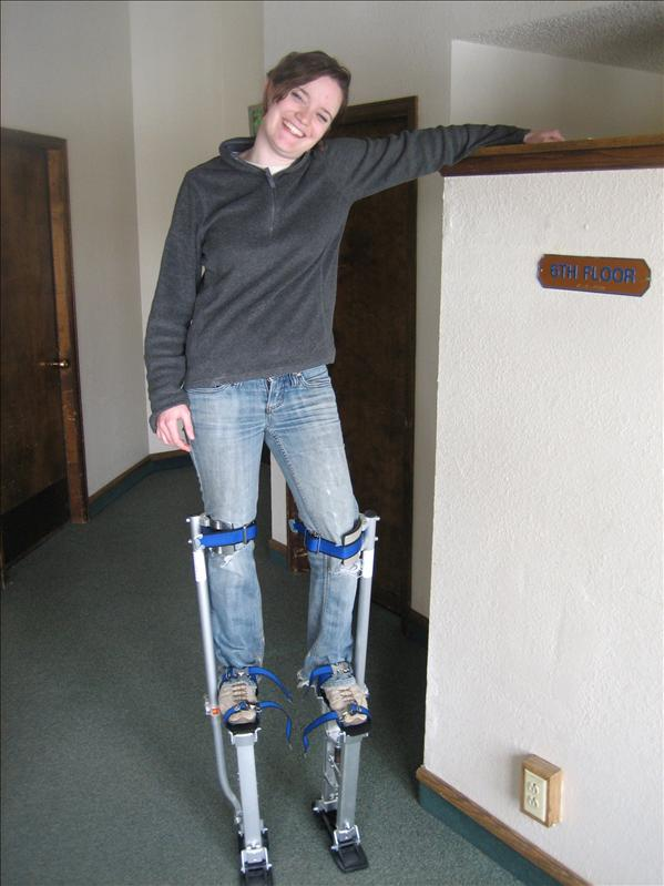 The stilts!!!  Our new toy!