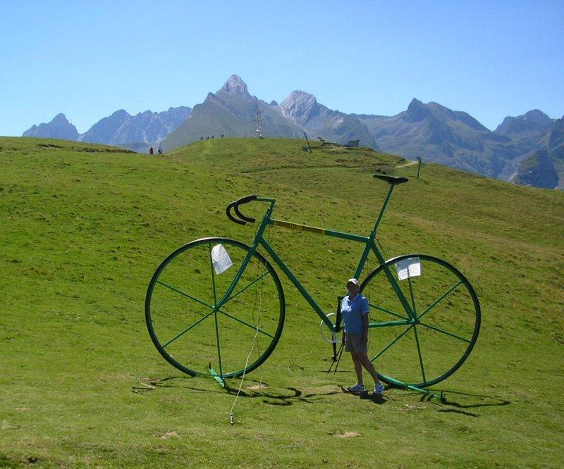 .. by bike if you are very big ....