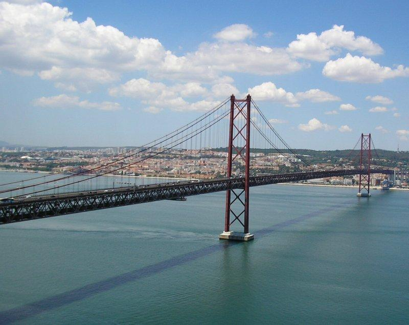 The bridge to Lisbon resembles the Golden Gate.