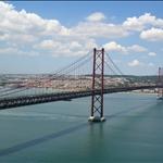 The bridge to Lisbon resembles the Golden Gate.
