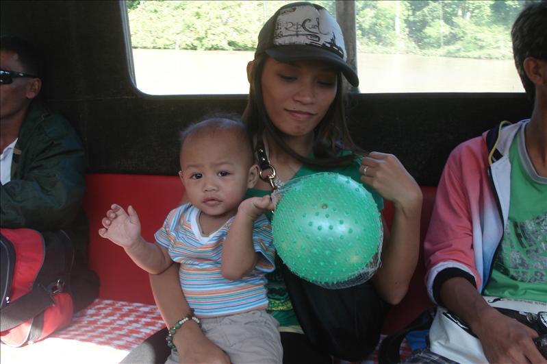 inside ferry boat