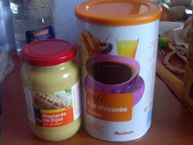 芥末醬和菊苣咖啡(無咖啡因)